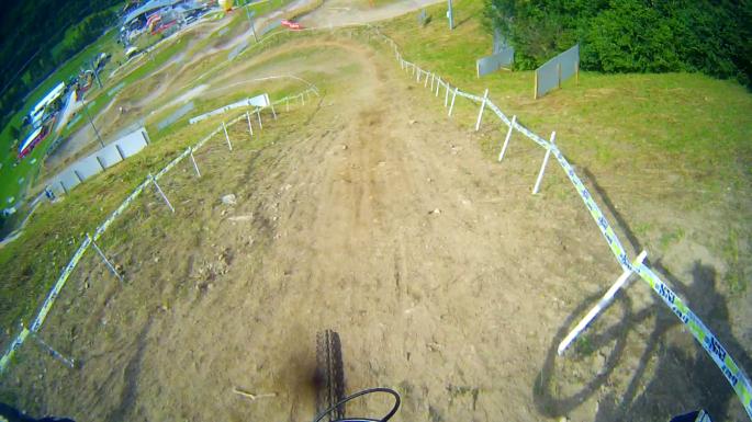 Slutet på Downhillbanan i Val Di Sole
