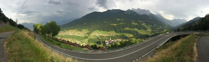 Utsikt från Vägen, Champéry.