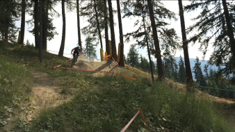 Riding in Pila Bikepark