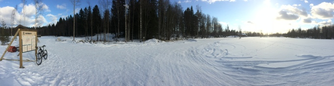 A picture from a trainingday in Högbo in March!